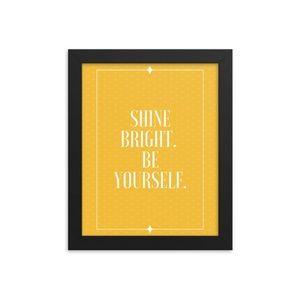 Shine Bright Framed Wall Art 8x10